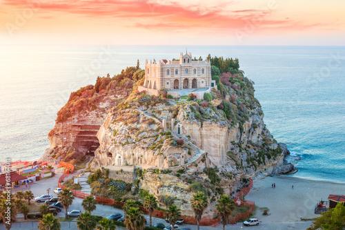 Santa Maria dell'Isola at sunset - Tropea, Calabria, Italy