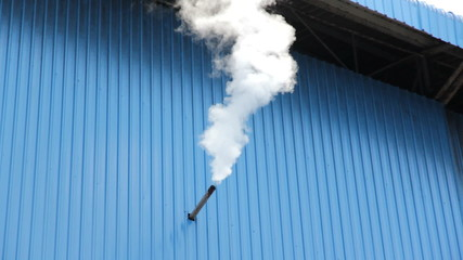 industrial smoke emission from factory pipes