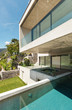 canvas print picture - beautiful modern house in cement