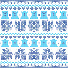 Winter, Christmas navy blue seamless pattern with bears
