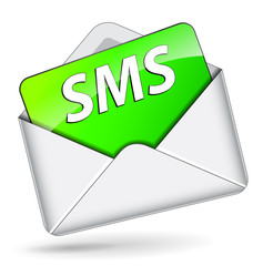 Vector sms envelope