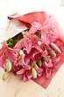 canvas print picture - Frische pinke Lilien