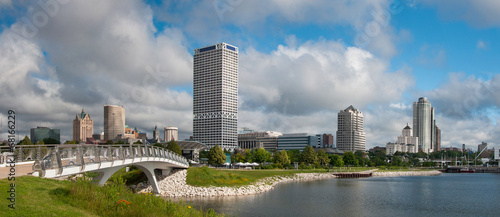 Fotobehang Grote meren Milwaukee City Skyline
