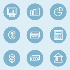 Finance web icon set 1,  blue buttons