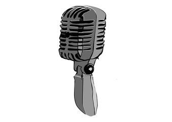 Oldschool Mikrofon