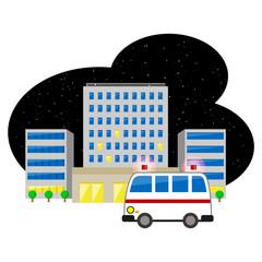 病院へ向かう救急車