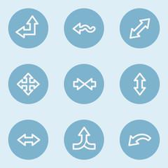 Arrows web icon set 2 , blue buttons