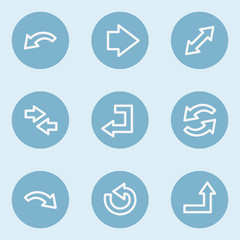Arrows web icon set 1 , blue buttons