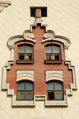 Vintage window on wall