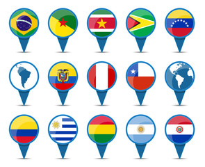 National flags of South America