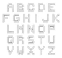 Alphabet 3d cubic white