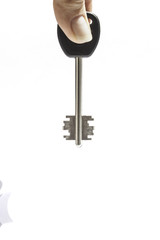 House Key Isolated in White Background.