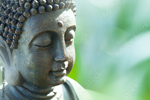 Foto op Canvas Monument Buddha's head