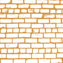 Simple vector background of old brickwork design