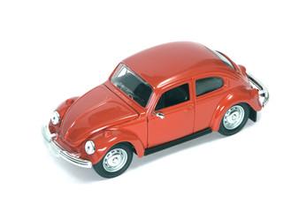 red retro car