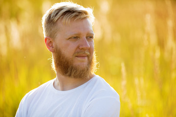 Blond bearded man