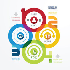 Modern Design infographic circle template.can be used for infogr
