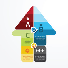 Modern Arrow Design infographic template.