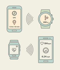 Smartwatches and smartphones communication