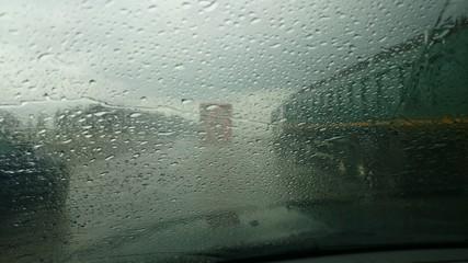 Autobahn Autofahren bei regen