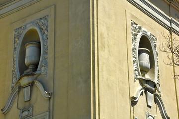 Detalle del Teatro Cerezo, Carmona, Sevilla