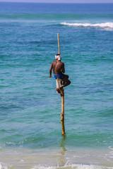 Pêcheur sur échasse , Sri Lanka