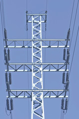 High-voltage tower.