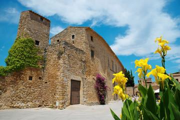 Peratallada, Costa Brava, Spain: Famous medieval square