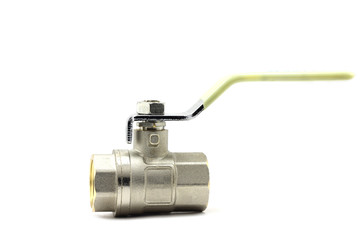shut-off valve on a white background
