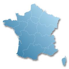 3ème carte des nouvelles régions françaises