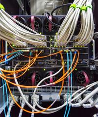 rack in the data center