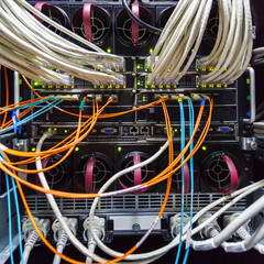 rack in the data center