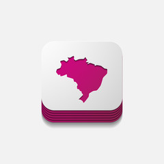square button: brazil