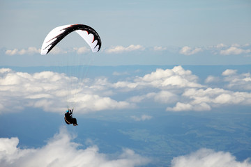 Paragliding over the Swiss Alps