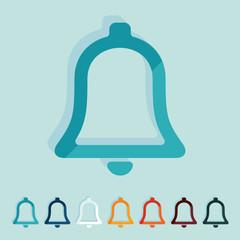 Flat design: bell