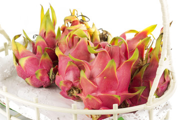 Dragon fruit in basket