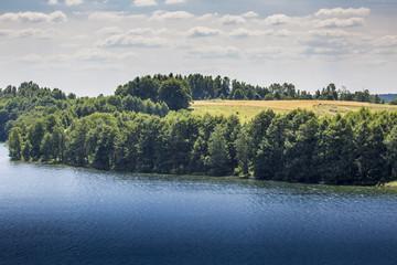 Lake Hancza in eastern Europe. Poland