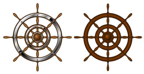 Two steering wheels