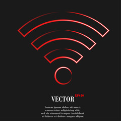 WI-FI. Flat modern web button and space for your text