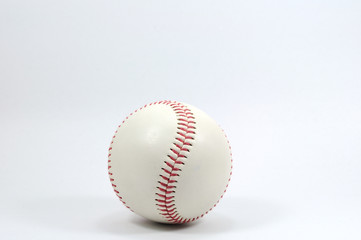 Single baseball on white background.