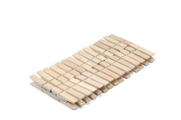 Cloth pegs from wooden
