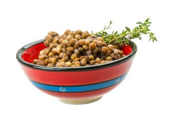 Backed lentils