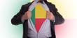 Businessman with Benin flag t-shirt