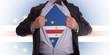 Businessman with Cape Verde flag t-shirt