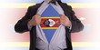 Businessman with Swaziland flag t-shirt