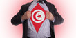 Businessman with Tunisia flag t-shirt