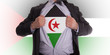 Businessman with Western Sahara flag t-shirt
