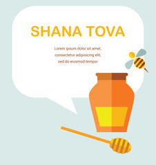"card for Jewish new year holiday Rosh Hashanah.  ""Happy New Year"