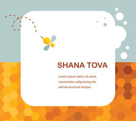 """Happy New Year"" (Hebrew) Rosh Hashana greeting card with"