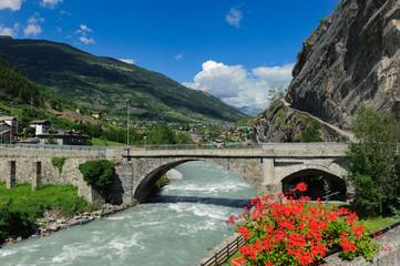 La Dora Baltea presso Villeneuve - Valle d'Aosta